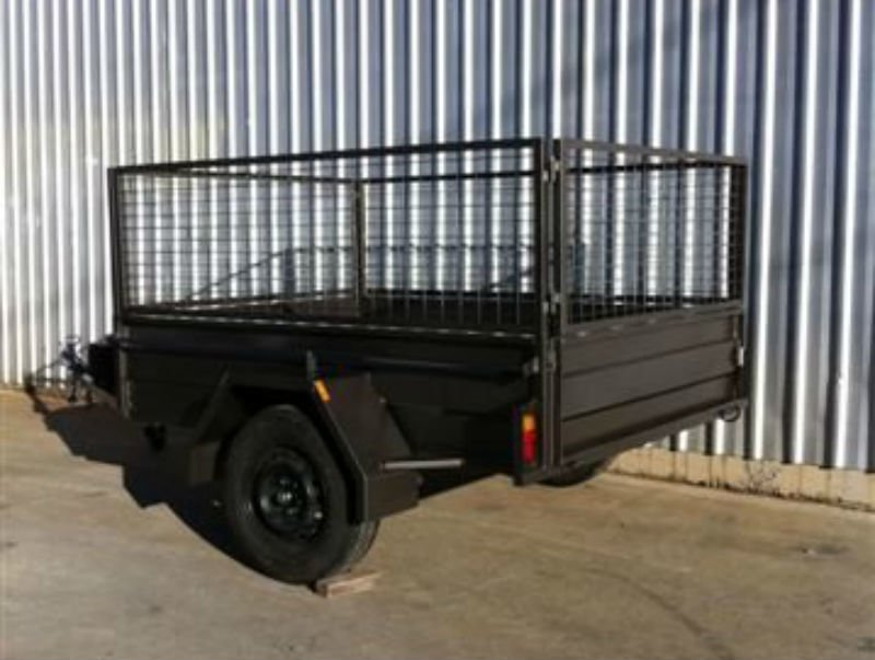 Box Trailer with cage