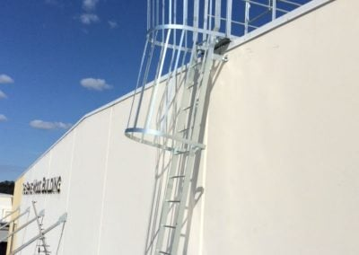 Caged Roof Access Ladder
